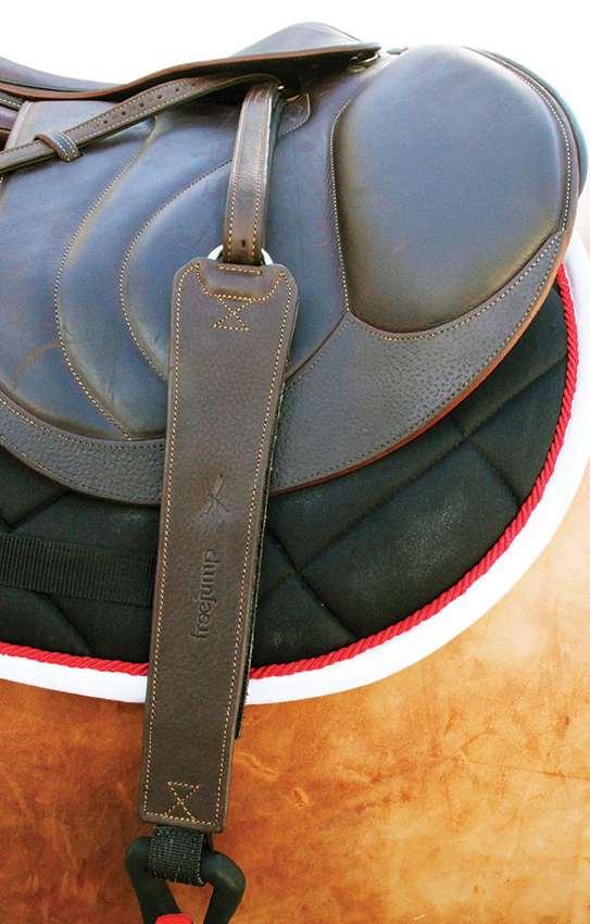 Freejump Pro Grip Stirrup Leathers Black
