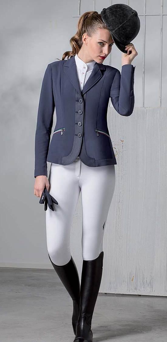 Equiline Ladies Show Jacket Linda Model Full View