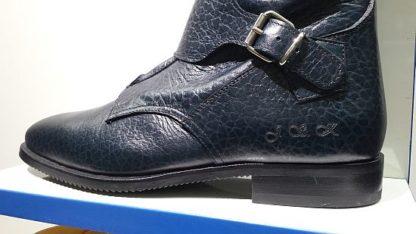 Navy Crocodile Polo Tucci Boots Closeup