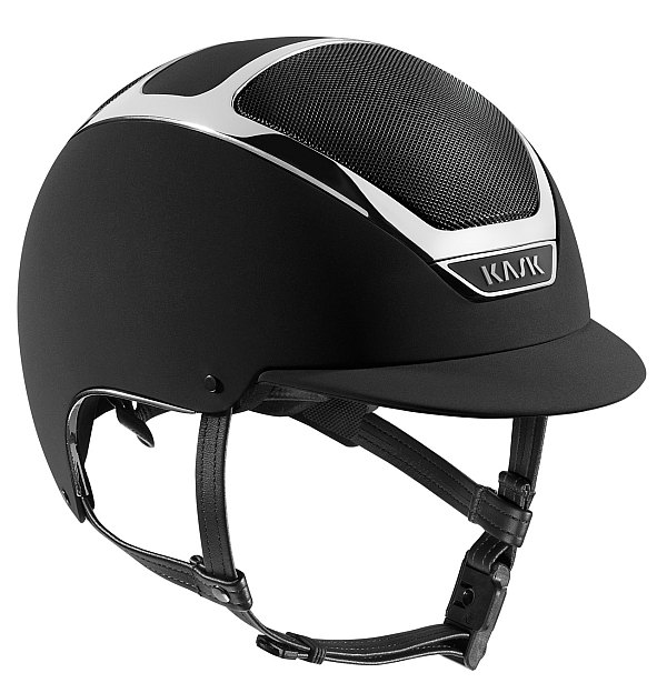 Dogma Chrome Light Helmet in Black with Silver trim