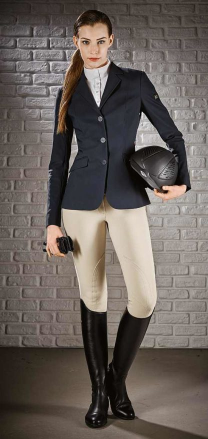 Equiline Hayley Hunter Show Jacket - shown in Black