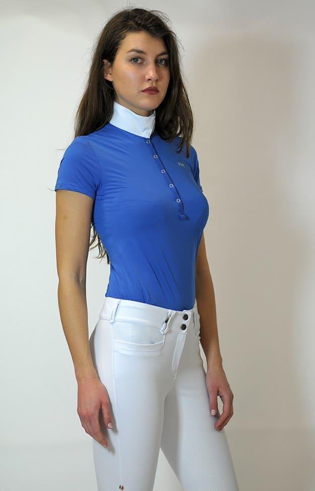 "Ladies Technical Show Shirt ""Bernie"" - Blue Pois"