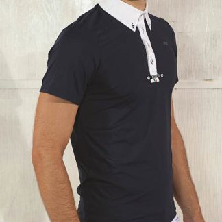 For Horses Men's Show Shirt Argo in Navy