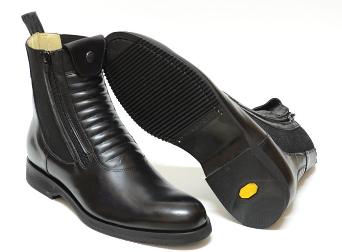 Secchiari Paddock Short Boots Grand Prix Elastic - Black