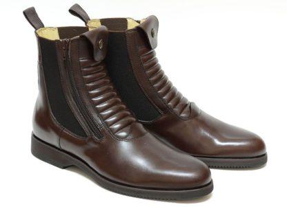Secchiari Paddock Short Boots Grand Prix Elastic - Brown