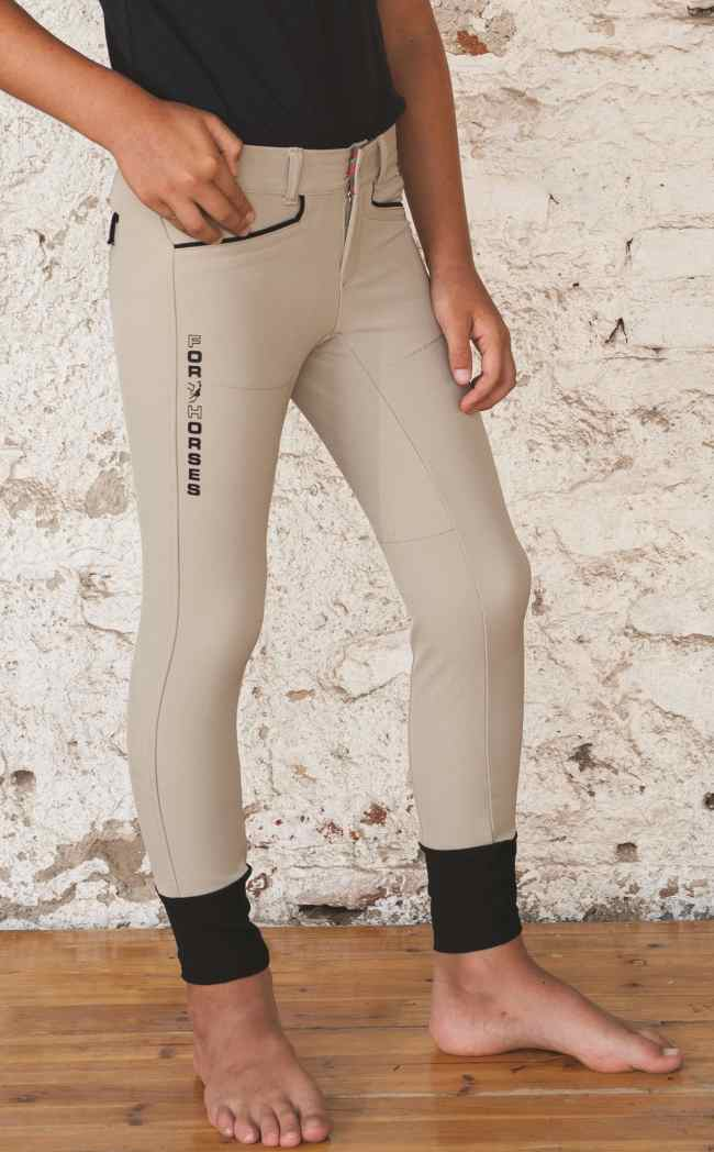 For Horses Boys Light Weight Show Jumping Riding Breeches With Back Pockets Chicco Tacknrider