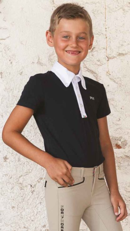 For Horses Boys Show Shirt Toby - Navy
