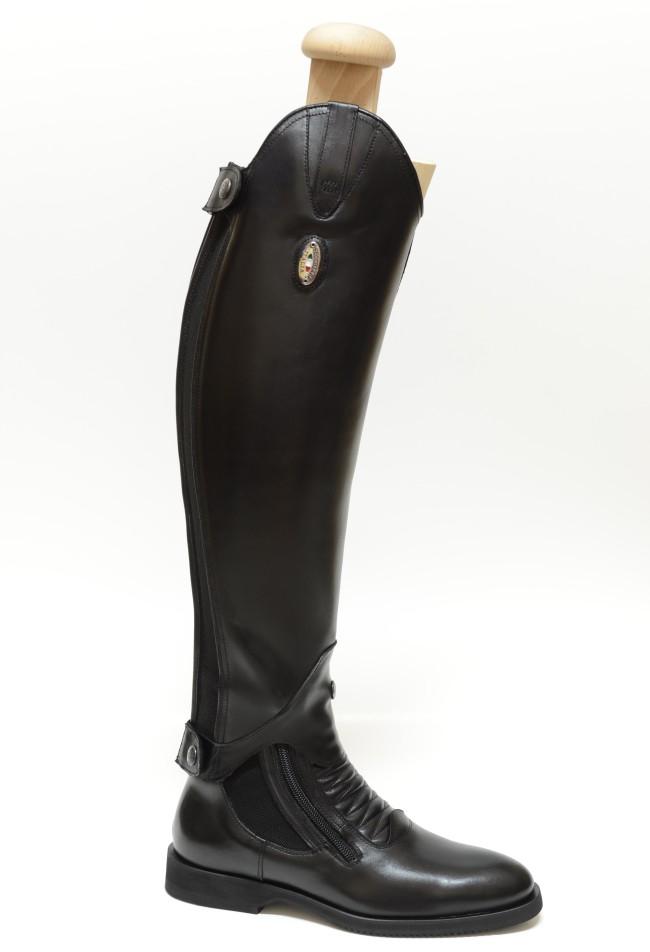 Secchiari Paddock Boots in Black shown with Olanda Mini Chaps