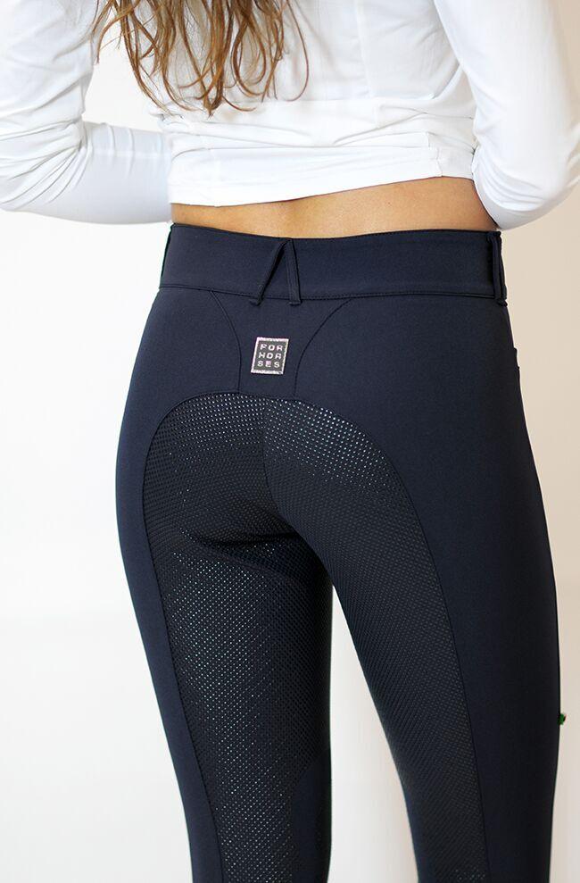 "Ladies Lightweight Full Seat Dressage Breeches ""Remie FS"" - Navy Back View"