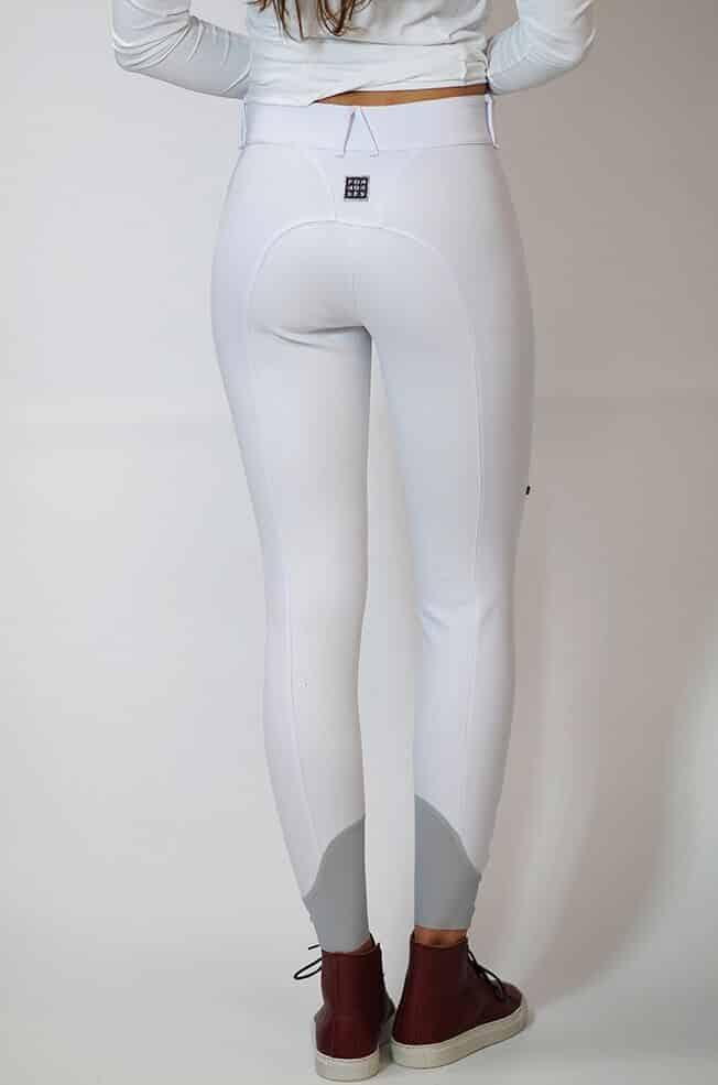 "Ladies Lightweight Full Seat Dressage Breeches ""Remie FS"" - White Back View"
