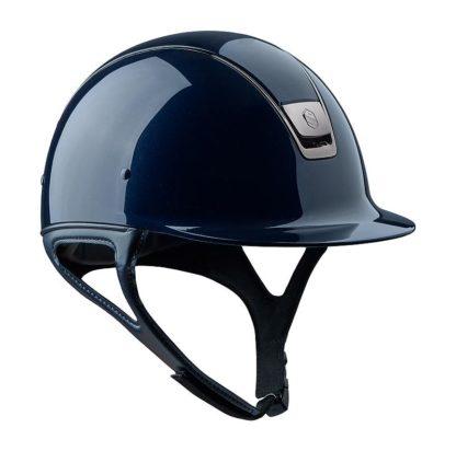 Samshield Shadow Glossy Helmet Front View - Blue