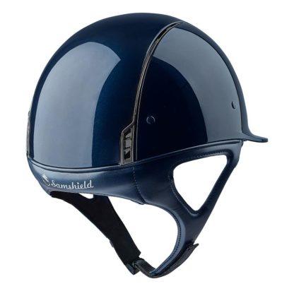 Samshield Shadow Glossy Helmet Rear View - Blue