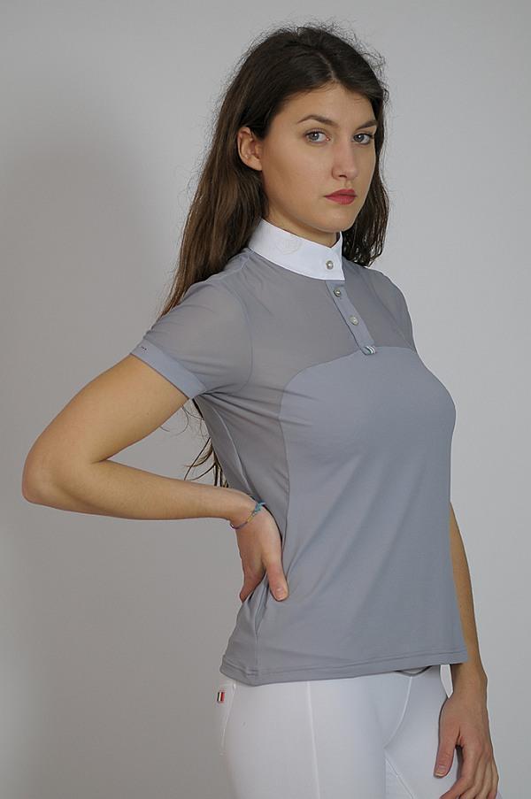 "Ladies Mesh Show Shirt ""Beatrice"" in Grey"
