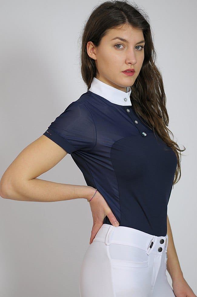 "Ladies Mesh Show Shirt ""Beatrice"" in Navy"
