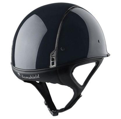 Samshield Shadow Race XC and Racing Helmet - Black Rear View