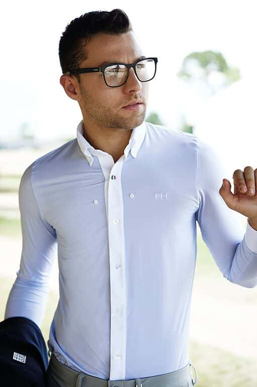 Men's Full Length Button Show Shirt - Adriano