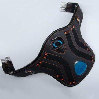 eQuick eDiamond Belly Guard Girth with eFluidGel Technology - Black
