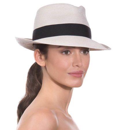 Eric Javits Fedora Hat Squishee Classic - Cream/Black