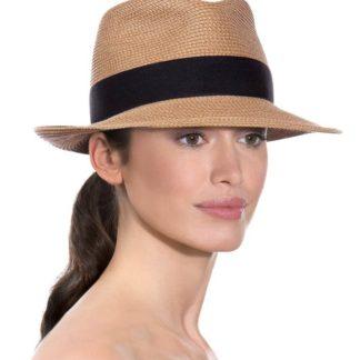 Eric Javits Fedora Hat Squishee Classic - Natural/Black