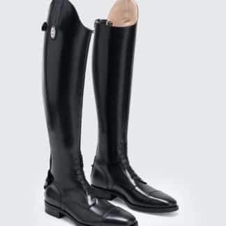Secchiari Classic Riding Field Tall boots with Laces and Elastic Zipper Panel - SS100EL