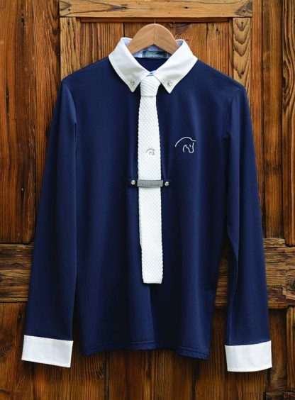 Razzapurra Long Sleeve Mens Show Shirt - Navy