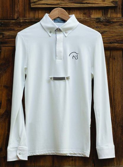 Razzapurra Long Sleeve Mens Show Shirt - White