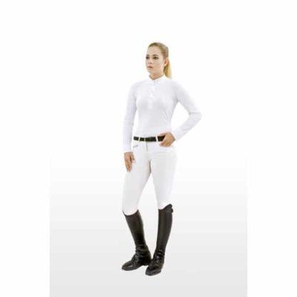 Breeze Long Sleeve Technical Show Shirt - White