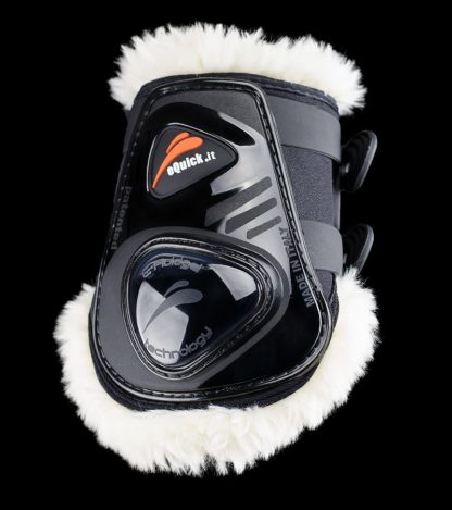 eShock Rear Fluffy No Kill Legend Hind Fetlock Boots - Black