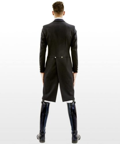 "Lotus Romeo Men's Dressage Shadbelly Tailcoat ""Inspire"" - Back View"