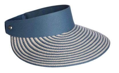 Eric Javits Champ II Wide Brim Visor with UV Protection - Blue/Mix