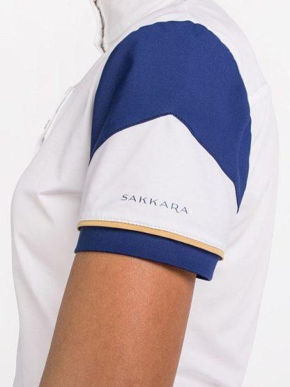 "Sakkara Women's Short Sleeve Show Shirt ""Pura"" - Arm Detail"