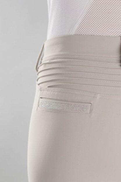 Samshield Ladies Knee Patch Beige Breeches - Clotilde - Back Detail