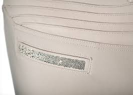 Samshield Ladies Knee Patch Beige Breeches - Clotilde - Knee Grip Detail