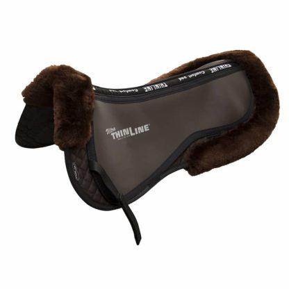 Ultra ThinLine Trifecta Half Pad with Sheepskin Rolls - Black