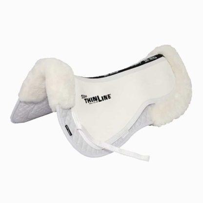 Ultra ThinLine Trifecta Half Pad with Sheepskin Rolls - White