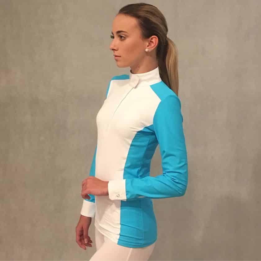 Lotus Romeo Ladies Technical Long Sleeve Show Shirt - Blue/White