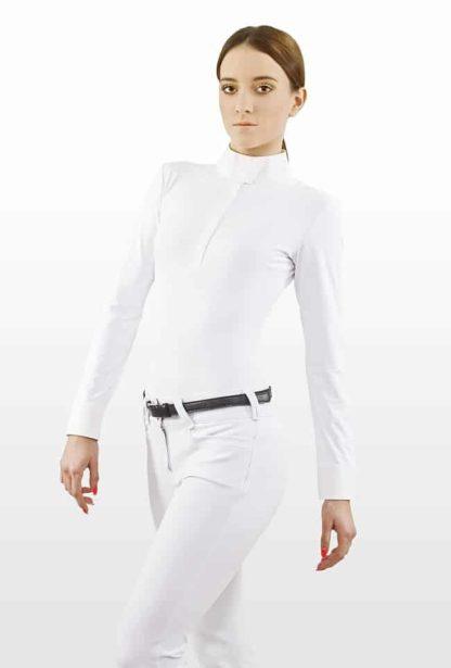 "Lotus Romeo Technical Long Sleeve Show Shirt ""Hunter LS"" - White"