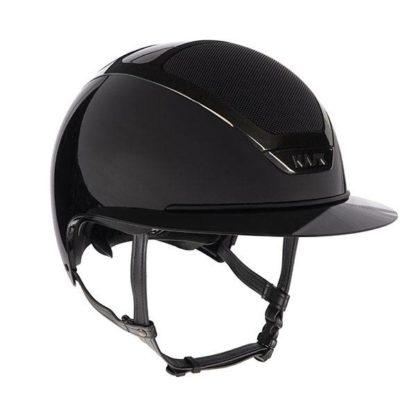 KASK Equestrian Dogma Star Lady Pure Shine Chrome Wide Brim Helmet - Black
