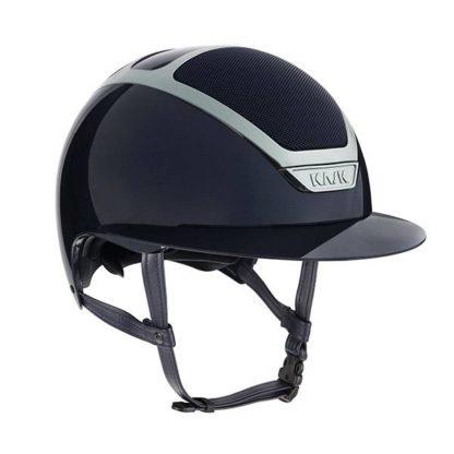 KASK Equestrian Dogma Star Lady Pure Shine Chrome Wide Brim Helmet - Navy