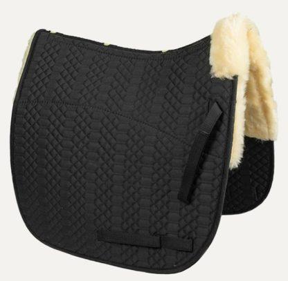 NSC Full Sheepskin Dressage Saddle Pad - Black
