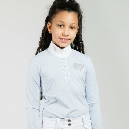 "For Horses Girls Equestrian Lightweight Show Shirt ""Molly"""