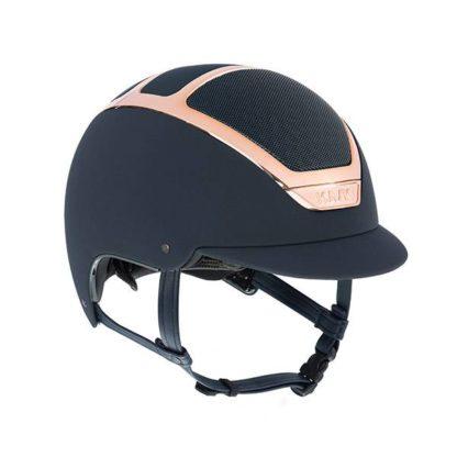 "KASK Equestrian Dogma Chrome Light Helmet with Regular Brim EveryRose Rose Gold Trim ""Limited Edition"""