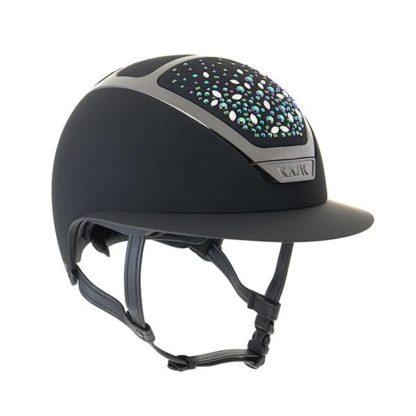 KASK Equestrian Custom Wide Brim Dogma Star Lady Helmet Swarovski Pearls Limited Edition