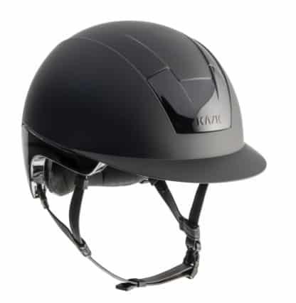 """KASK Equestrian """"KOOKI"""" Slim Profile Standard Peak Regular Brim Helmet with Snap Removable Liner"""