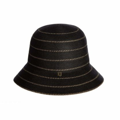 "Eric Javits Bucket Hat UV Protection Narrow Weave Elasticized Inner Band ""Kimi"""