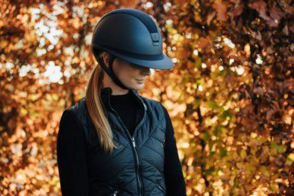 Samshield Miss Shield Matt Collection Limited Edition 5 Swarovski Tone-On-Tone Crystals Wide Brim Helmet