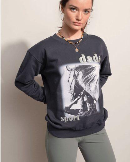 "Dada Sport Equestrian Sweater Loose Cut Ladies Sweatshirt ""pinto"""