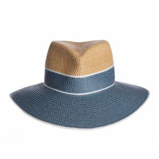 "Eric Javits Fedora Hat with 3.5"" Wide Brim Span ""Georgia"""