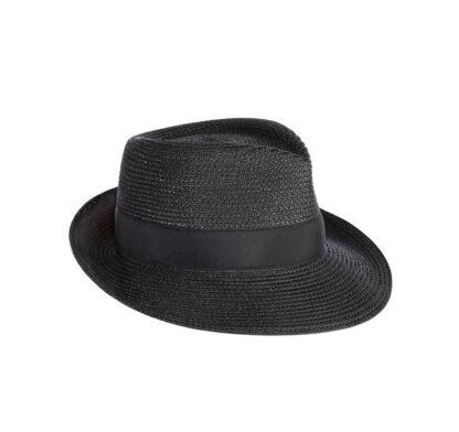Eric Javits Squishee Classic Fedora Hat - Black