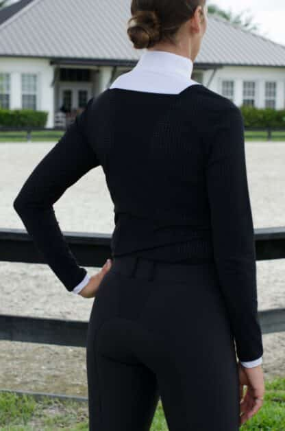 "Kismet Long Sleeve Perforated Airbag Show Shirt ""Eleonoire"""